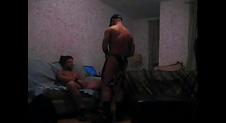 Muscle Leather Daddy Gets Dick Serviced