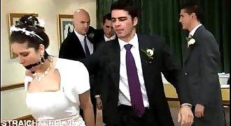 ZGroom&BestManabusedin front of bride