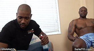 Black married masculine gets screwed by a gay