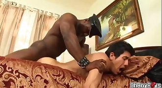 Black dick getting suck at the poolside and burried it in the bedroom