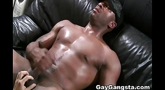 White Gay on Blindfold Fucked by Huge Dark Cock