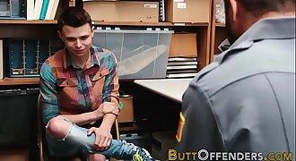 Shoplifting twink jizzed